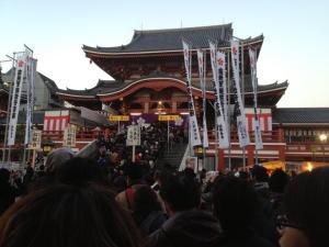 Osu Kannon in Nagoya Japan, New Years 2013