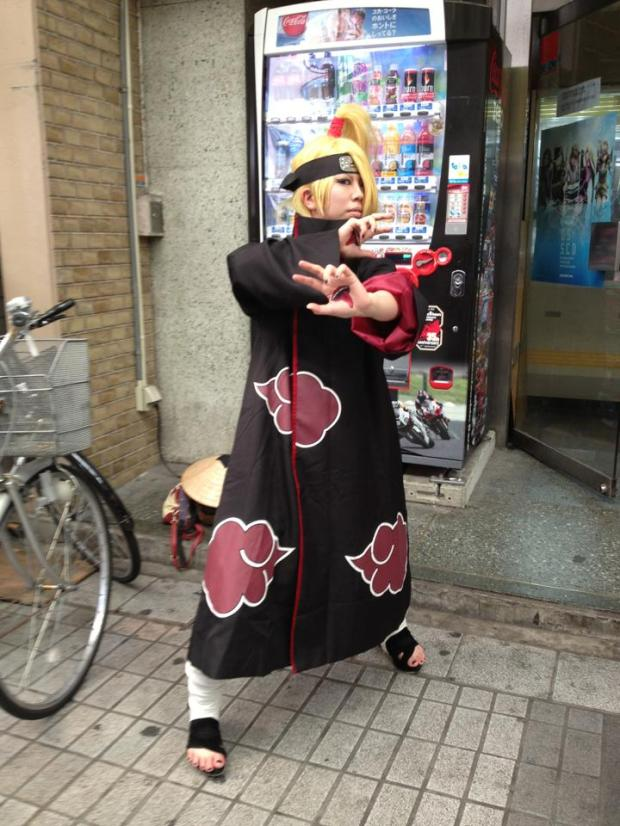 Deidara posing for the camera