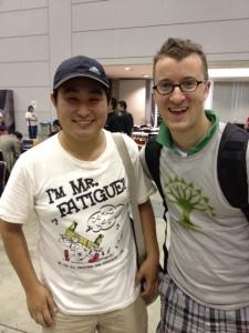 Nomura and I before semifinals