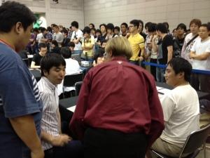 Shuhei Nakamura doing coverage for my Ryosuke's match