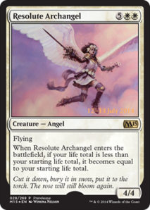 Resolute Archangel Prerelease Promo