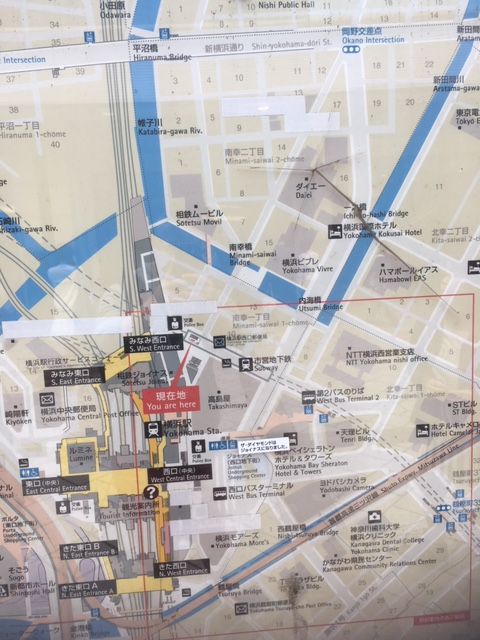 Map to Minami area